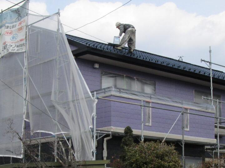屋根【中塗り・仕上げ】