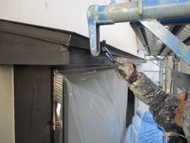 軒樋・破風板塗装